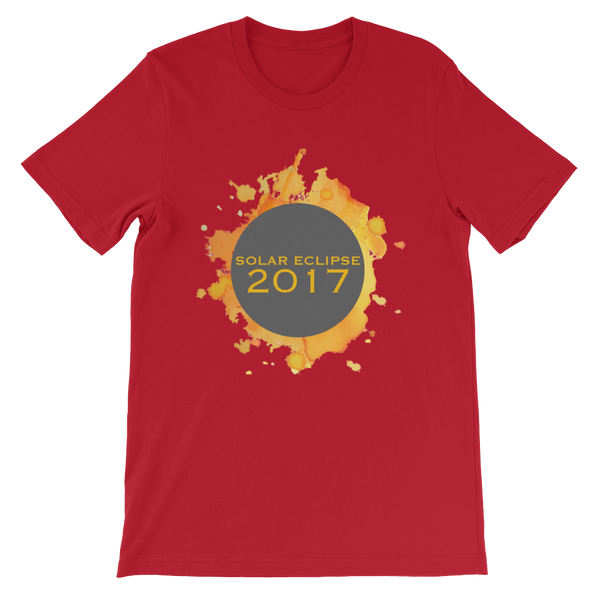 2017 Solar Eclipse Watercolor Burst - Men's/Unisex Short Sleeve