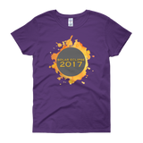 2017 Solar Eclipse Watercolor Burst - Women's Short Sleeve