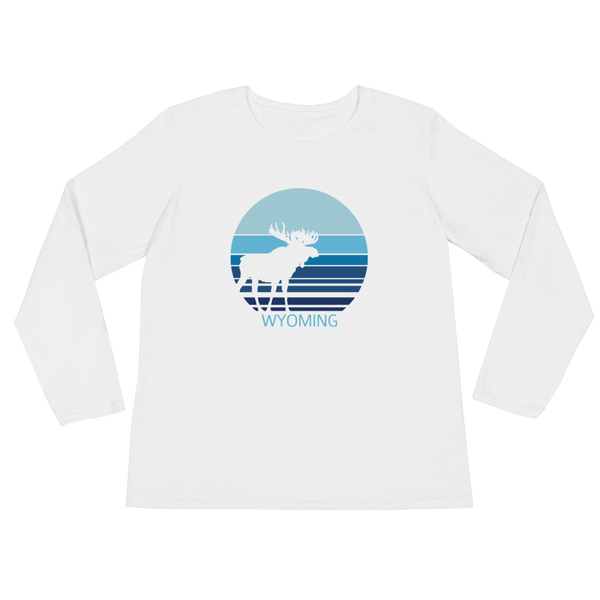 Wyoming Moon Moose - Women's Long Sleeve