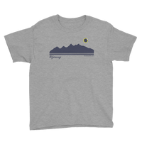 Grand Teton Silhouette 2017 Solar Eclipse - Kid's/Youth Short Sleeve