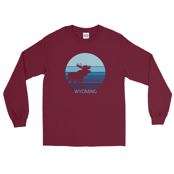 Wyoming Moon Moose - Men's/Unisex Long Sleeve