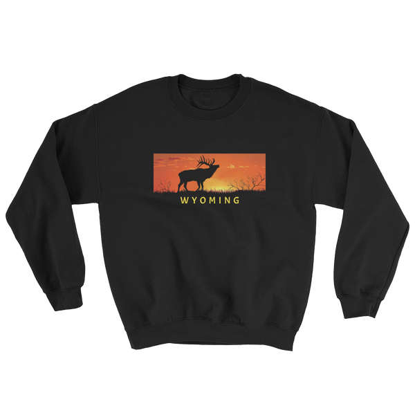 Wyoming Elk Sunset Sweatshirt - Unisex
