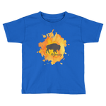Wyoming Watercolor Burst Bison - Kid's/Toddler Short Sleeve