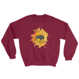 Wyoming Watercolor Burst Bison Sweatshirt - Unisex