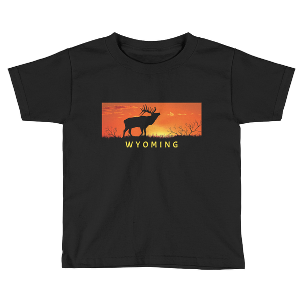 Wyoming Elk Sunset - Kid's/Toddler Short Sleeve