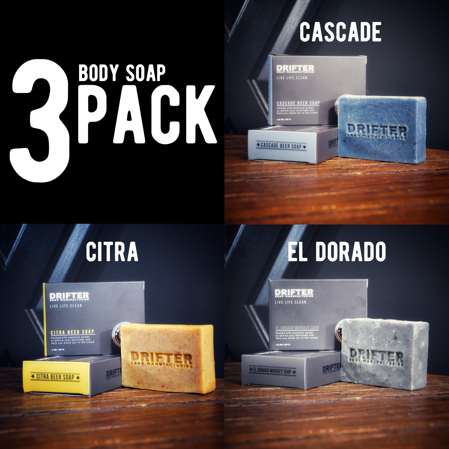 3 Pack - Soap For Men