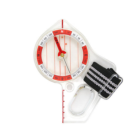 Red Orienteering Compass