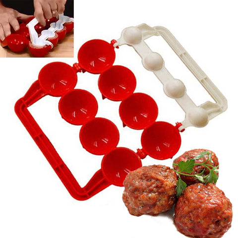 Ceezle Easy Meatballs Maker, Red and White