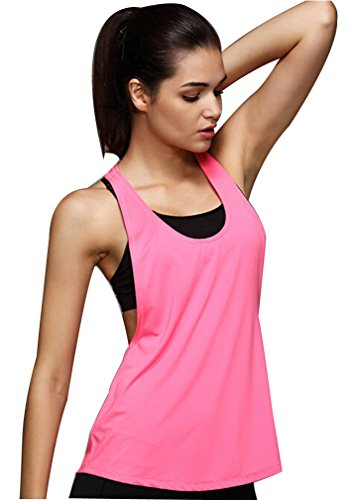 Indrah Women's Performance Fitness Workout Racerback Tank Top
