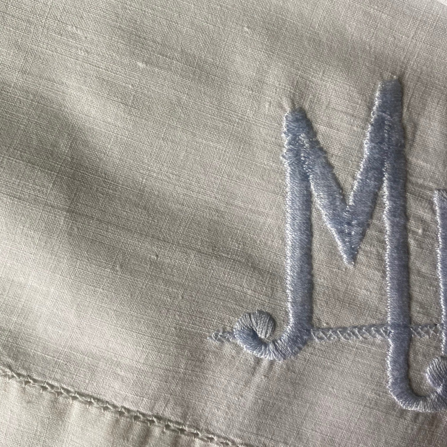Vintage Mr & Mrs Embroidered Pillowcases - Pair of 2