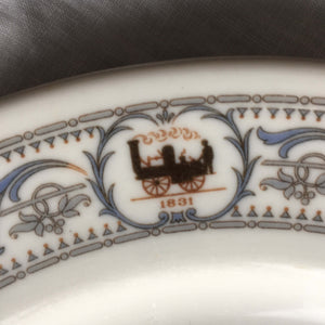 1920's New York Central Rail Lines Dinner Plate - DeWitt Clinton Pattern - Onandaga Pottery Company