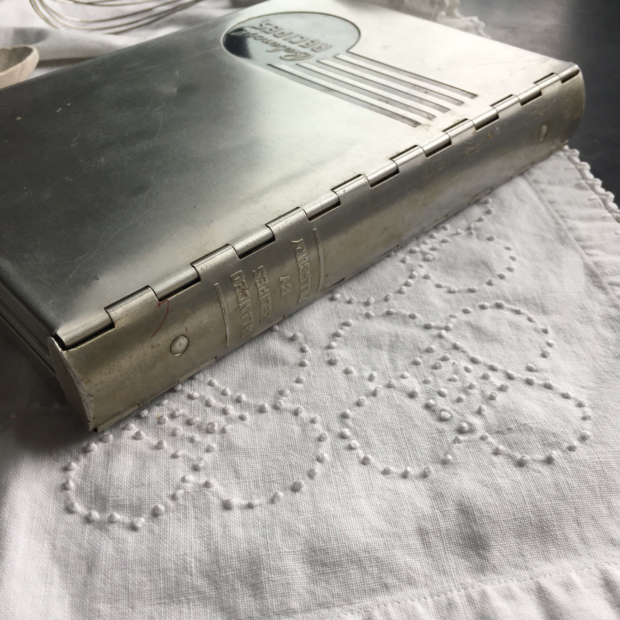 1930s Pillsbury Cookbook - Balanced Recipes - Mary Ellis Ames - Aluminium Cover and Ring Binder Style  circa 1933