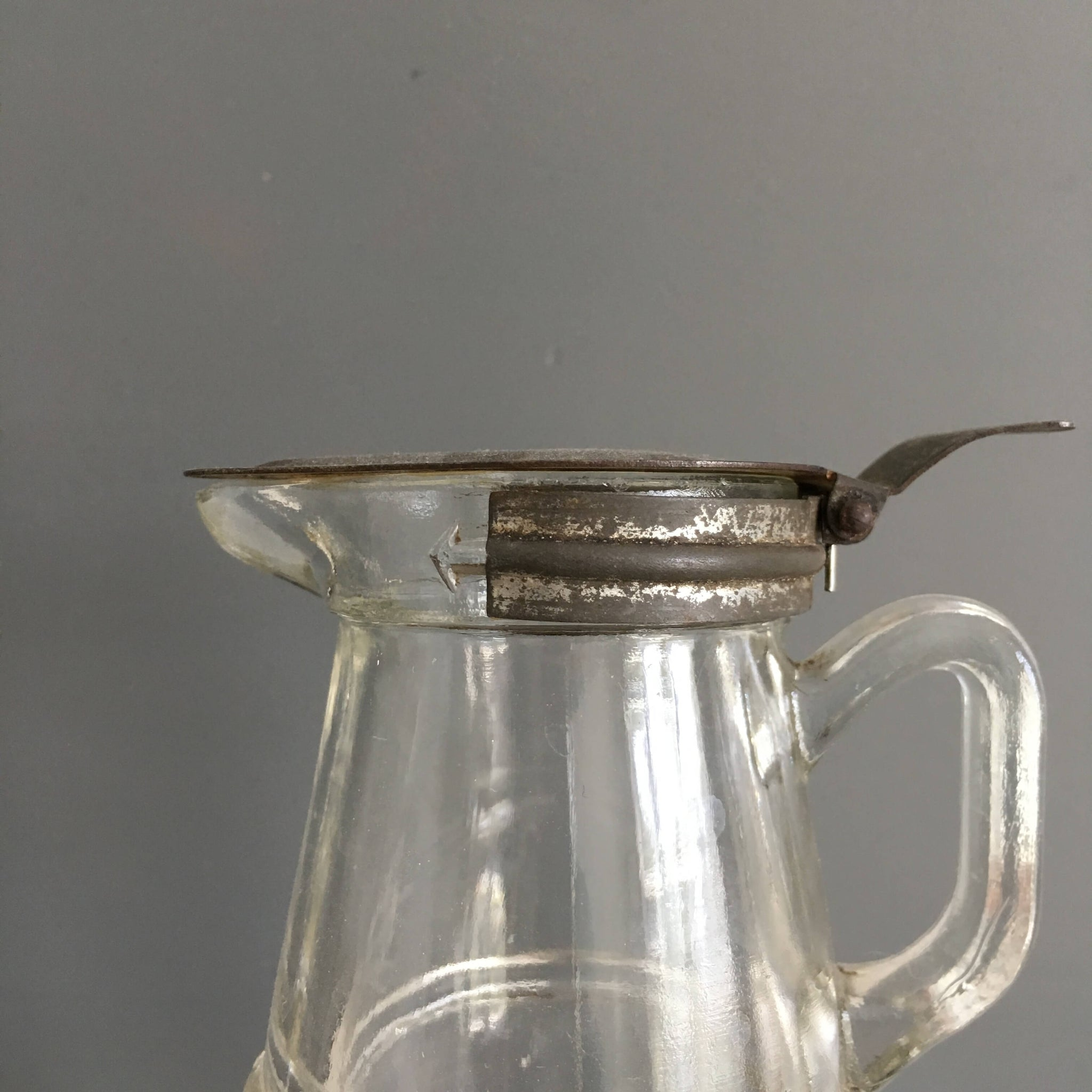Antique Glass Syrup Dispenser circa 1915