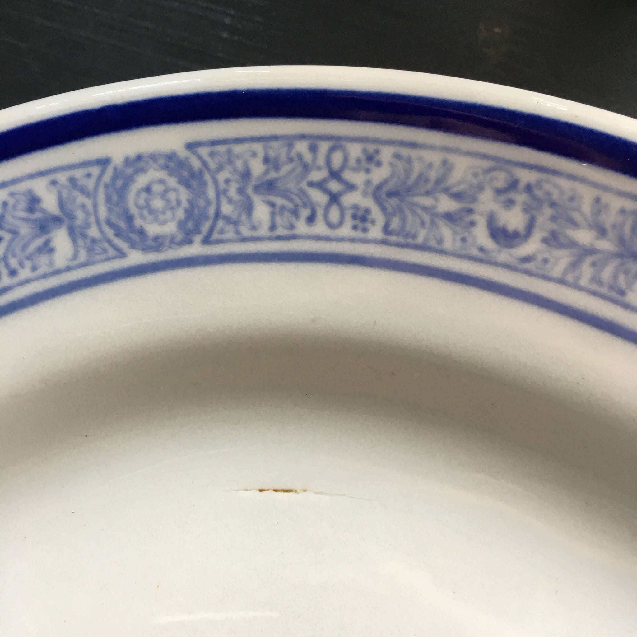 Vintage Blue and White Restaurantware Platter - Mayer China Aurora Pattern circa 1912-1930s