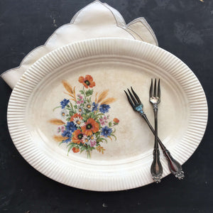 Vintage 1940's Salem China Platter - Victory Shape - Dominion Pattern circa 1944-1950
