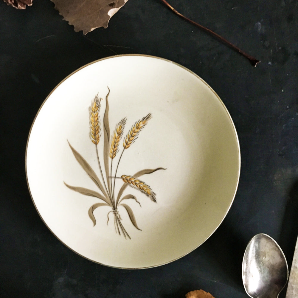Vintage Mix and Match Autumn Themed Plates - The Autumn Fields Collection - Set of Three Autumn Accent Serving Pieces