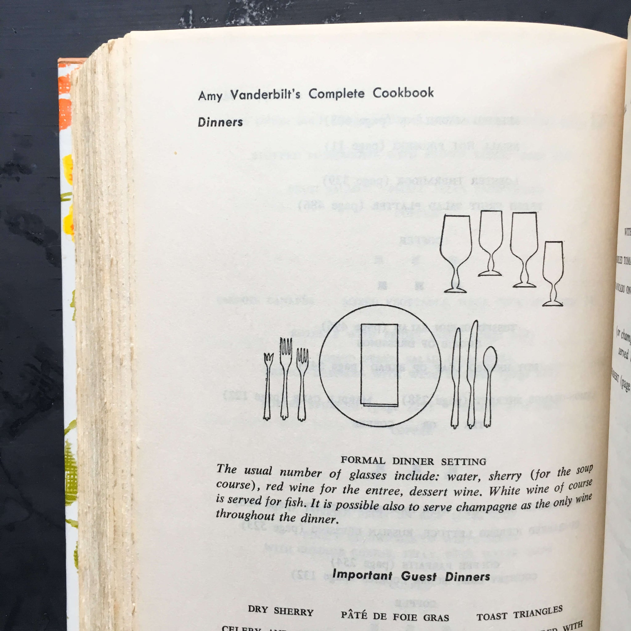 Amy Vanderbilt's Complete Cookbook - 1961 Edition - Drawings by Andy Warhol - Contact Paper Covered Cookbook