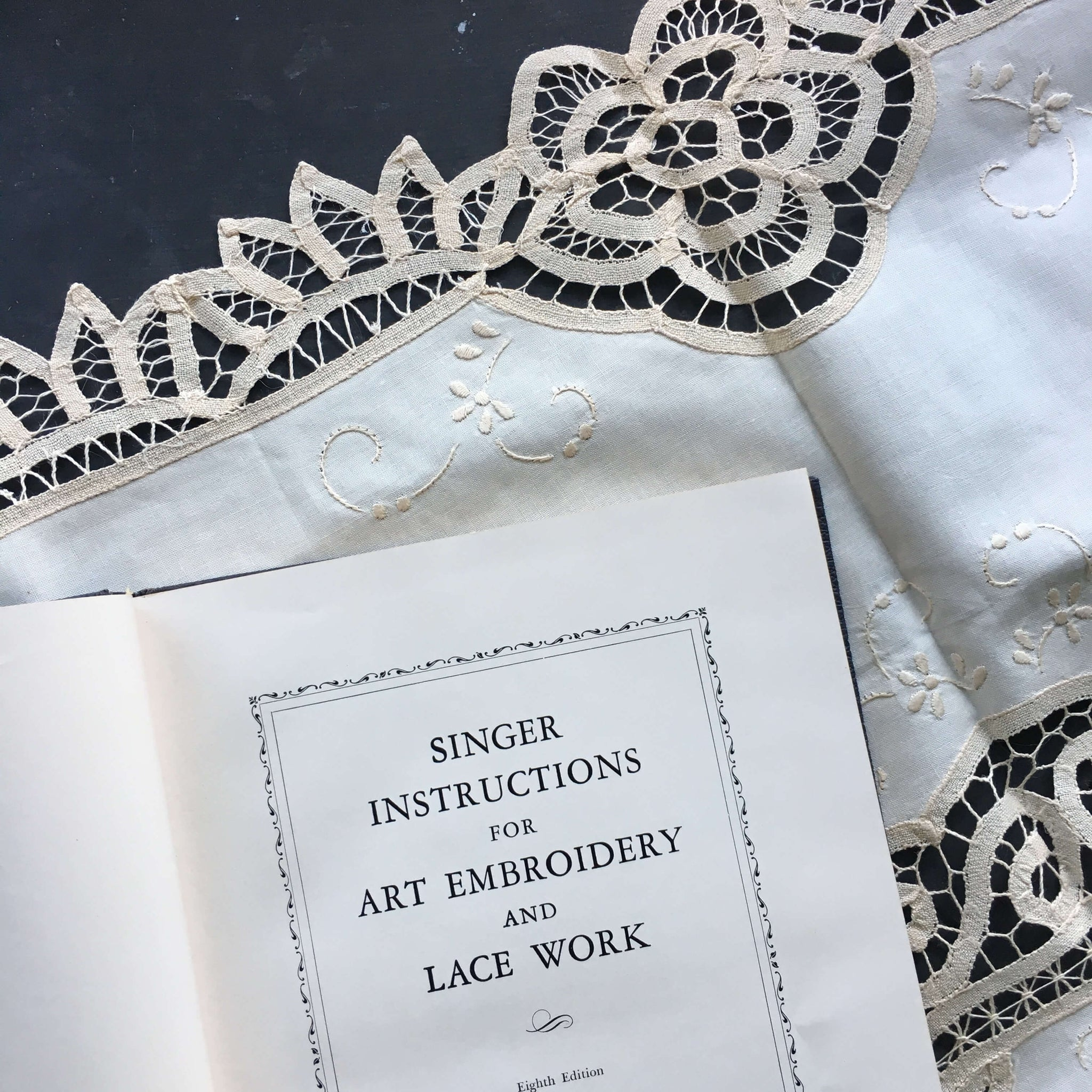 Singer Instructions for Art Embroidery and Lace Work - 1948 Edition - Singer Sewing Machines Instruction Book