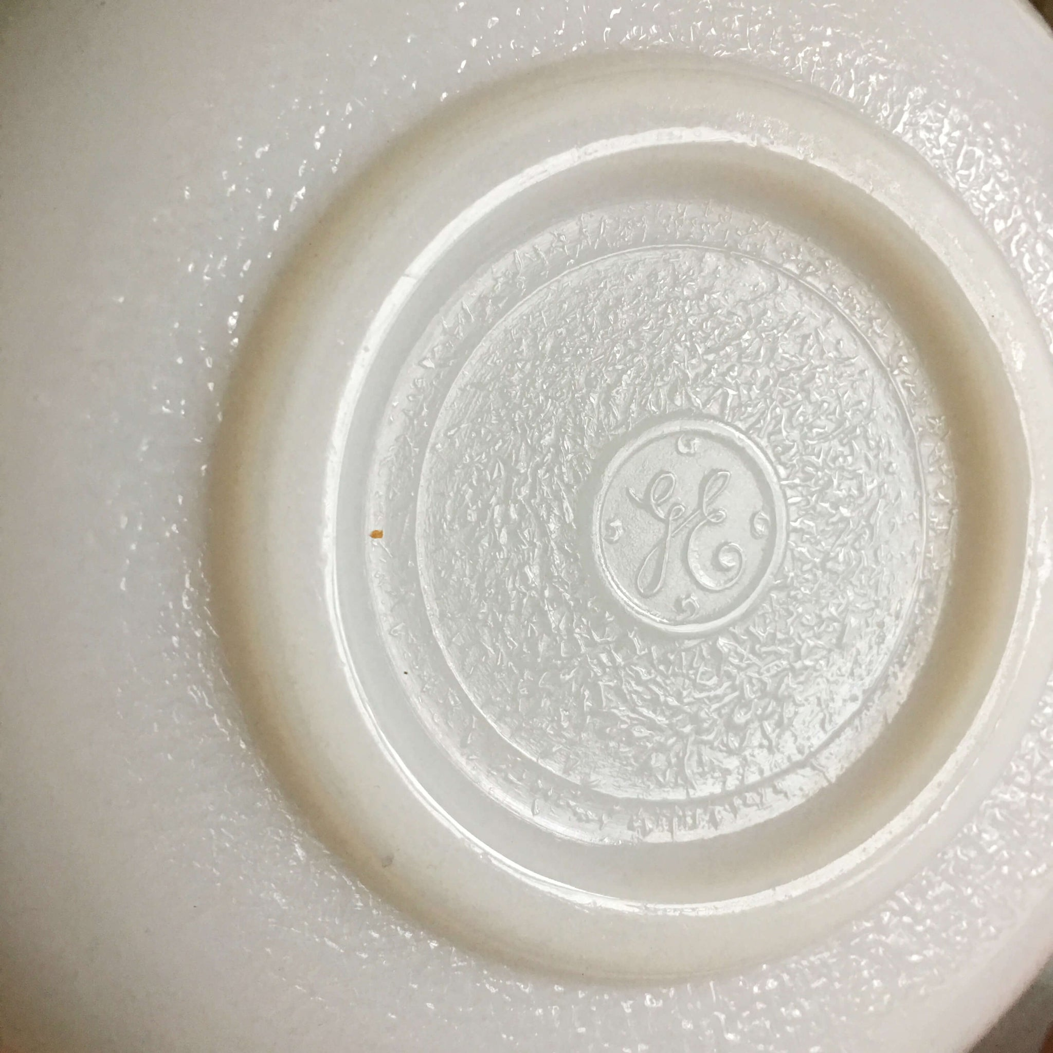 Vintage 1940s Milk Glass Mixing Bowl Made by General Electric - Beehive Style