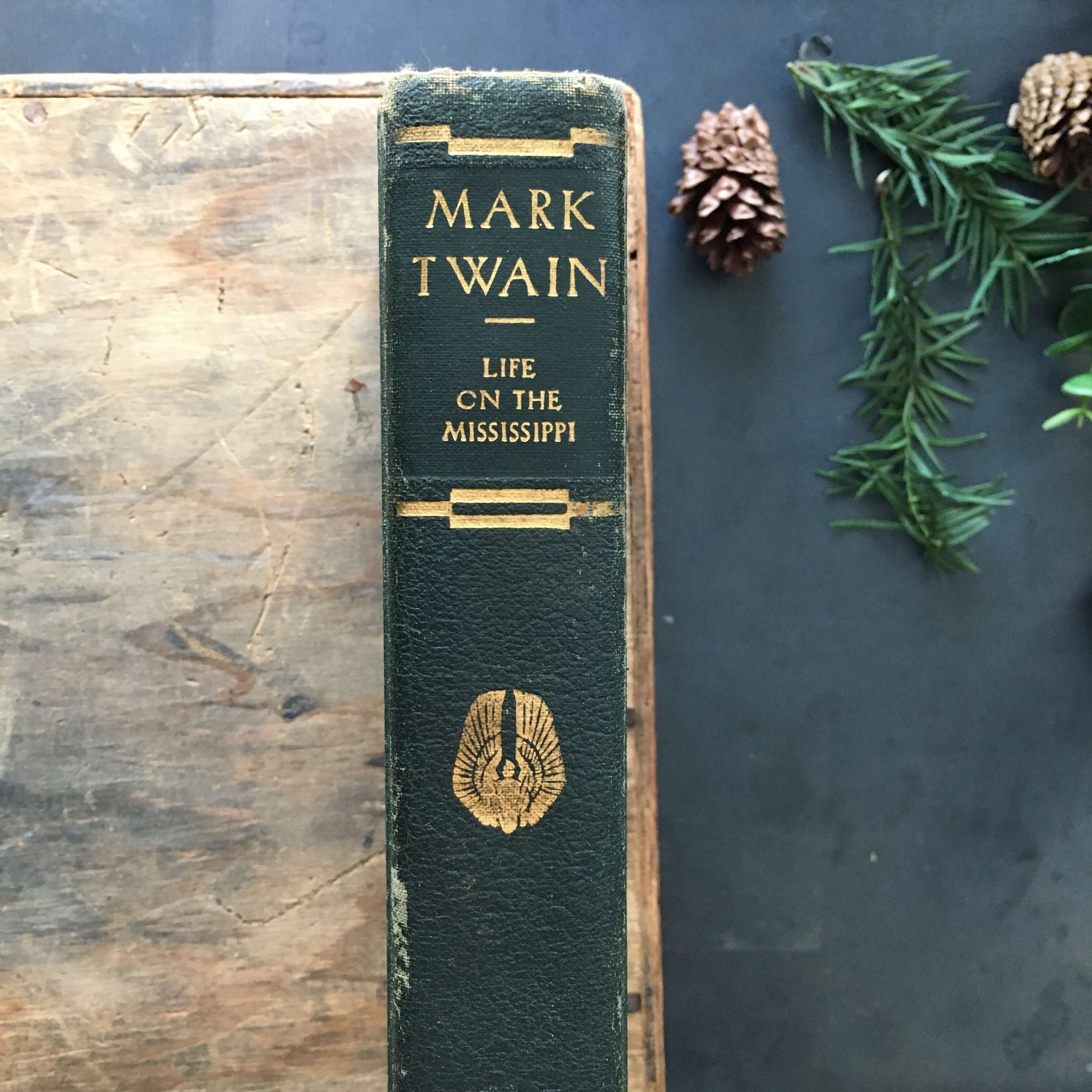 Antique Mark Twain Memoir - Life on the Mississippi - 1917 PF Collier Edition