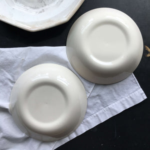 Vintage 1960s Taylor Smith Taylor Bachelor Button Cereal Bowls - Set of Two