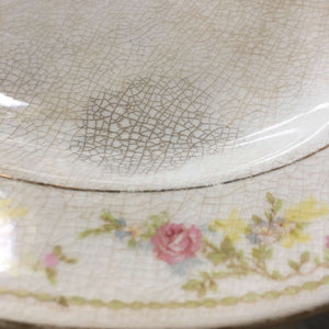 Antique Knowles Taylor & Knowles Pink Rose Floral Platter circa early 1900s
