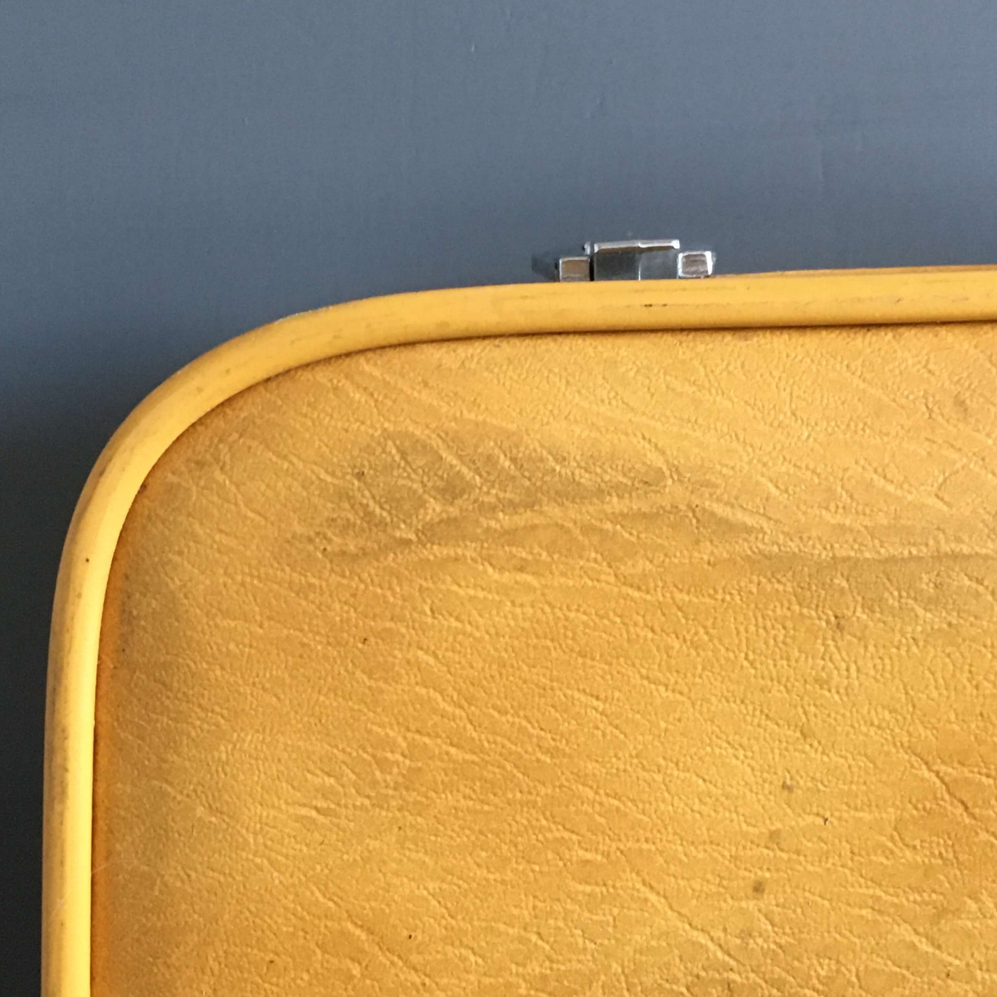 Rare Vintage Yellow Starflite Suitcase - Made by Roper Luggage - Circa 1960's/1970s