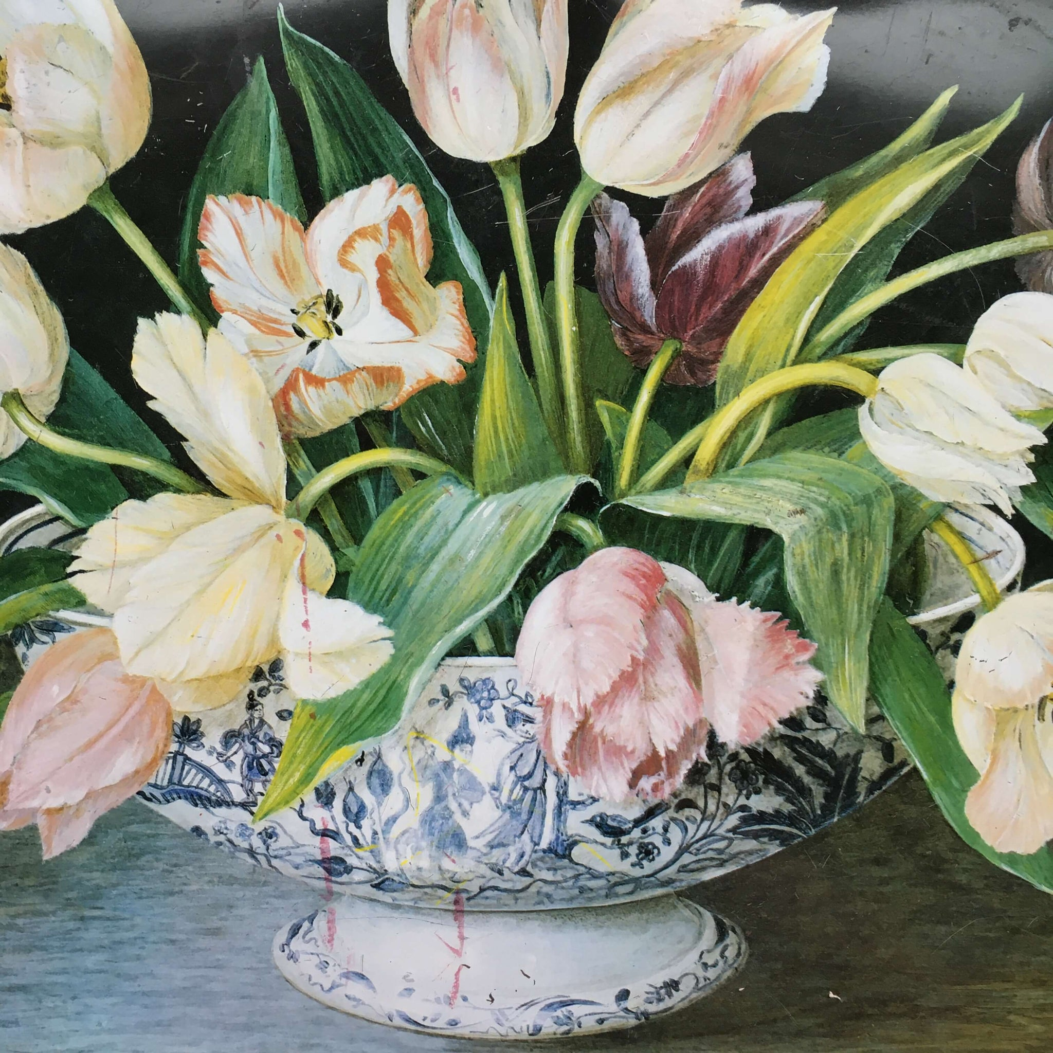 Vintage Keller Charles Metal Tray - Tulip Bouquet Painting by Galley -  Stephanie Hoppen Picture Archive