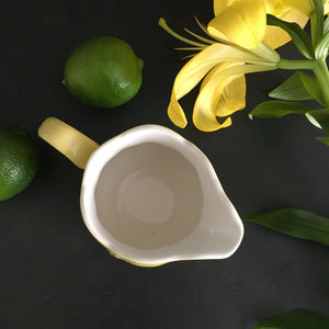 1960s Federalist Ironstone Creamer in Buttercup Yellow - Made in Japan for Sears
