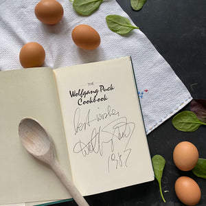 The Wolfgang Puck Cookbook - 1986 Signed First Edition