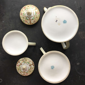 Antique Porcelain Nippon Tea Set - Tea Pot, Creamer & Sugar Jar circa 1911-1921