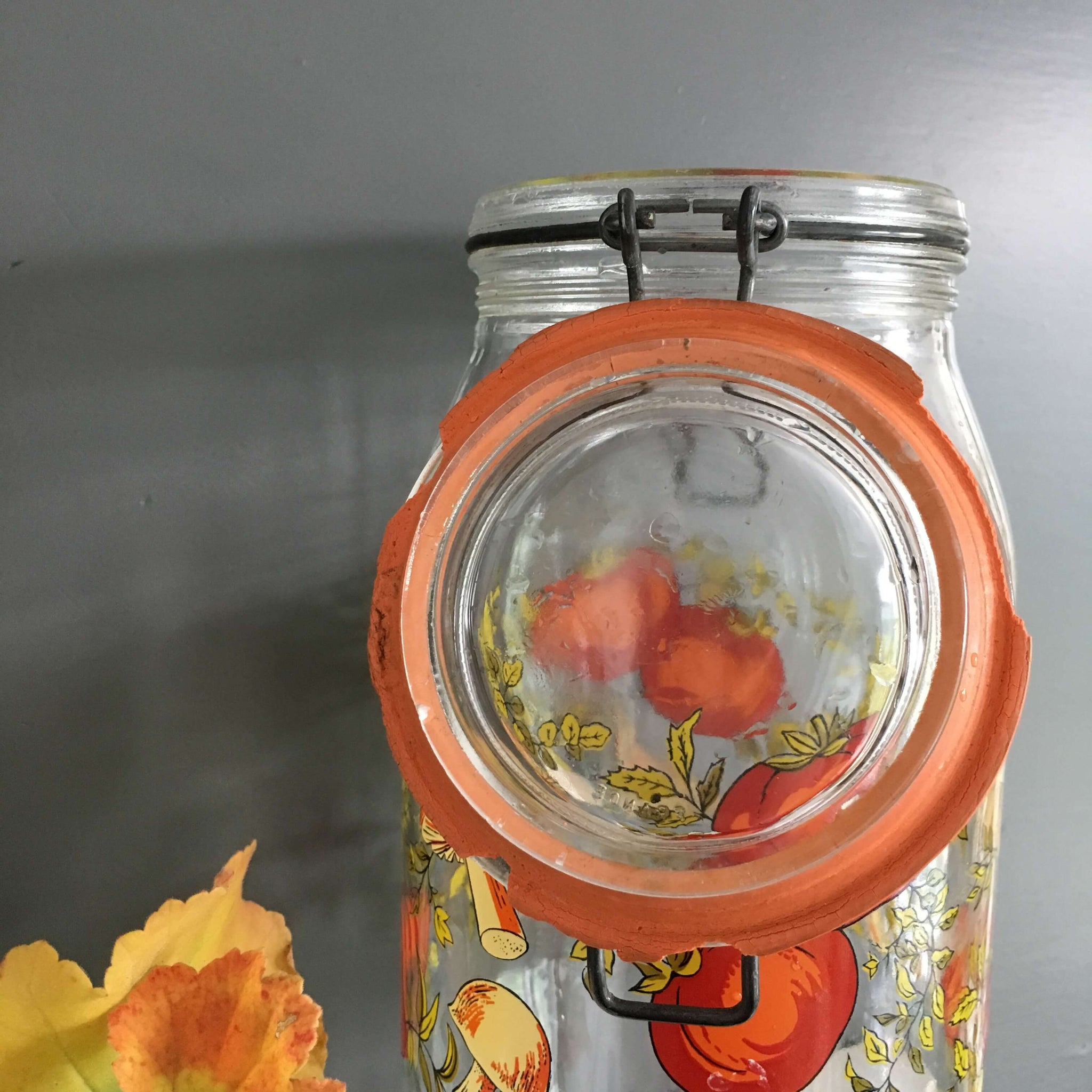 Vintage Spice of Life Canning Jar - Made in France by ARC - 2 Litre Size Storage Container