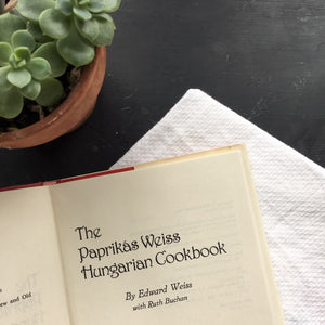 The Parikas Weiss Hungarian Cookbook - Edward Weiss with Ruth Buchan - Vintage 1980s New York City Gourmet Specialty Shop