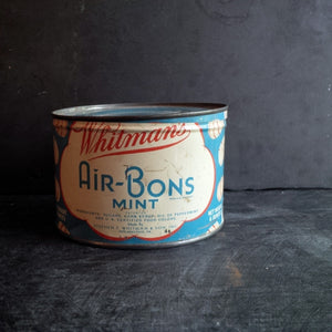 Whitman's Air-Bons Mint Tin - 1950s Advertising Tin - Vintage Candy Package