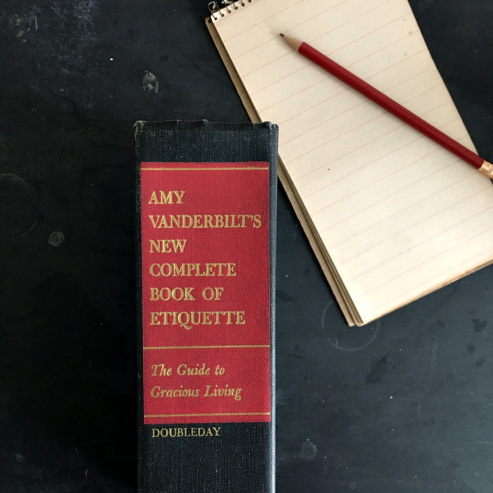 Amy Vanderbilt's New Complete Book of Etiquette - 1963 Edition - Midcentury Guide to Gracious Living