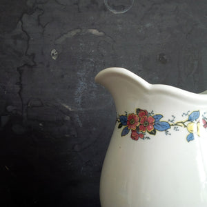 Bailey Walker Vitreous China Pitcher - City of Cleveland circa 1930's with Floral Band