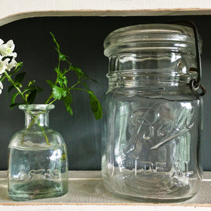 Vintage Ball Ideal Glass Canning Jar circa 1933-1962 - Pint Size Capacity - Bail Wire