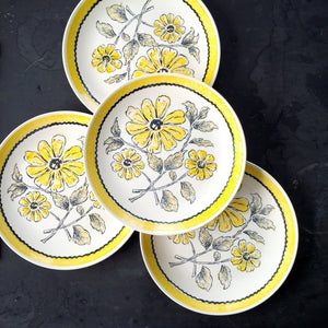 Vintage 1970s Bannockburn Collection Countryside Ironstone Dinner Plates -Set of Four - Provincial Kitchen
