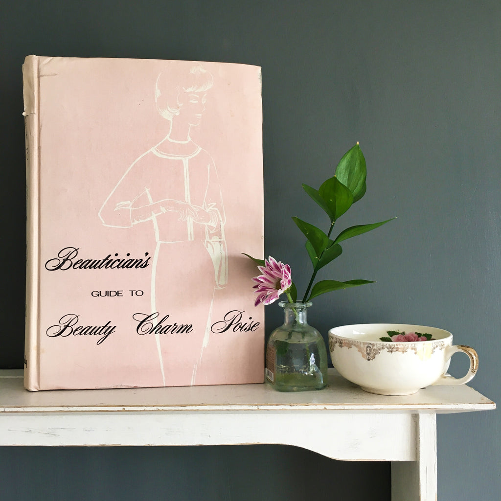 vintage 1960s beauty book covering charm poise makeup and beauty routines