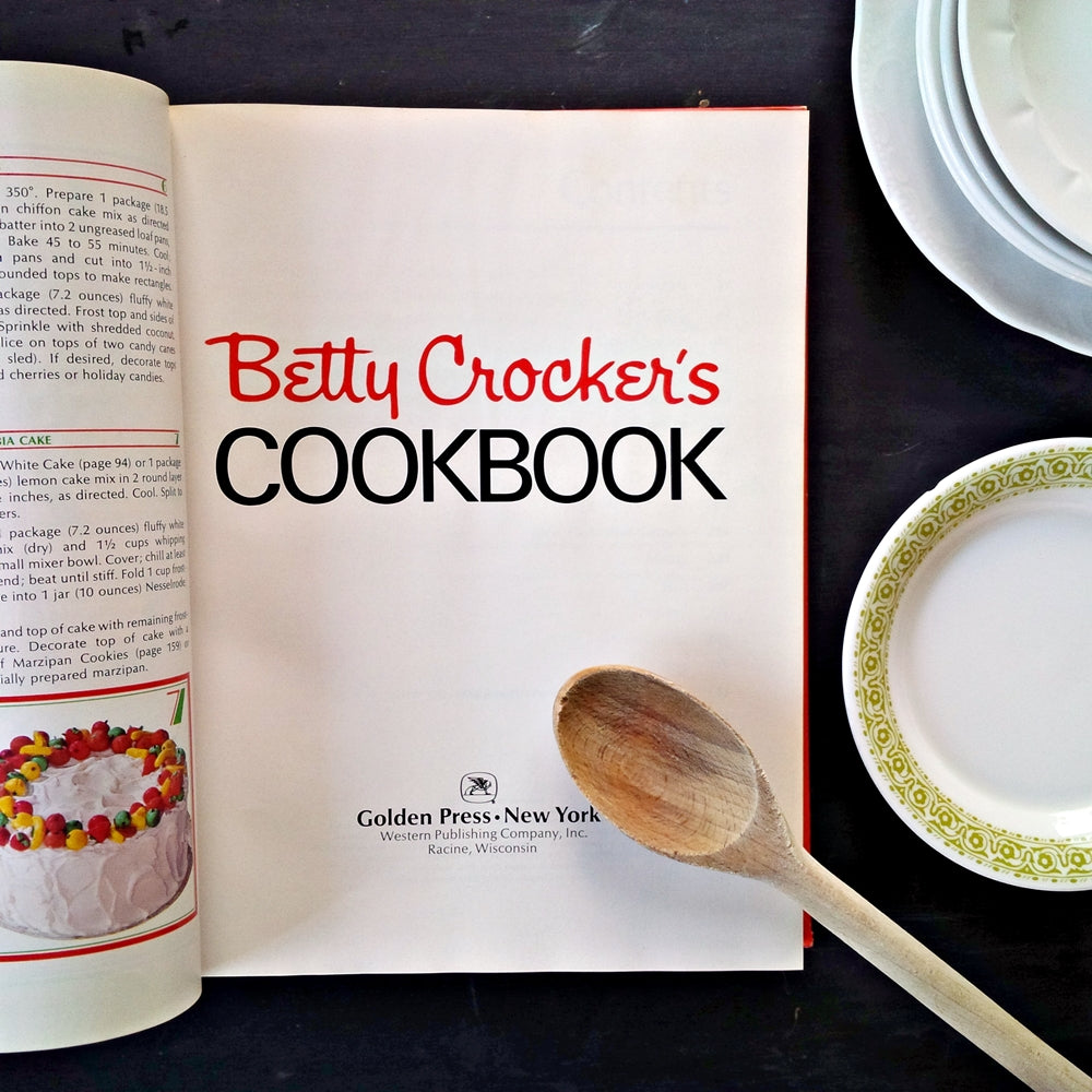 Betty Crocker's Cookbook - 1972 Edition, 17th Printing with Special Sears Happy Holidays Recipe Insert