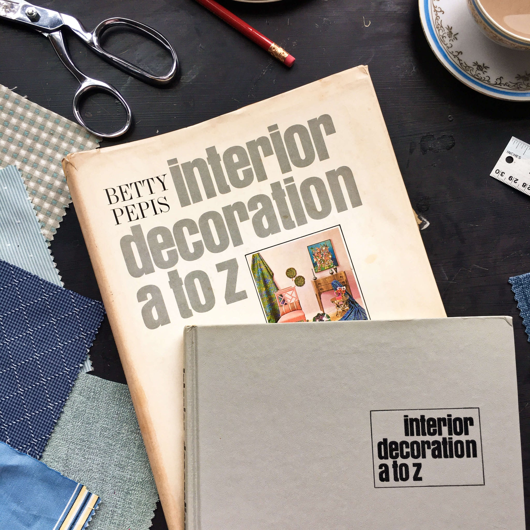 Vintage 1960s Interior Design Book - Interior Decoration A to Z - Betty Pepis - 1965 Edition