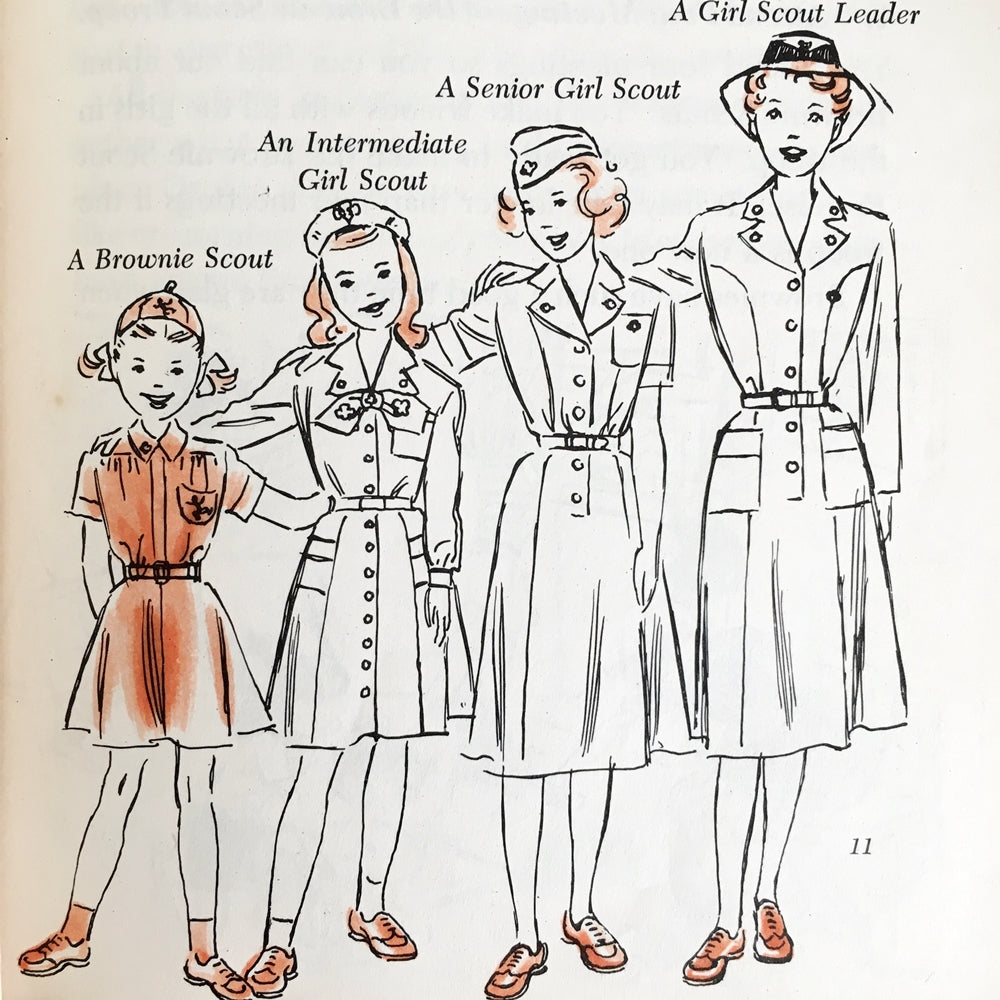 Brownie Scout Handbook - 1951 Edition - Vintage Girls Scouts Collectibles & Memorabilia