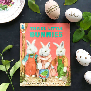 The Three Little Bunnies - 1960's Rand McNally Elf Book - Ruth Dixon Dale Rooks Children's Book