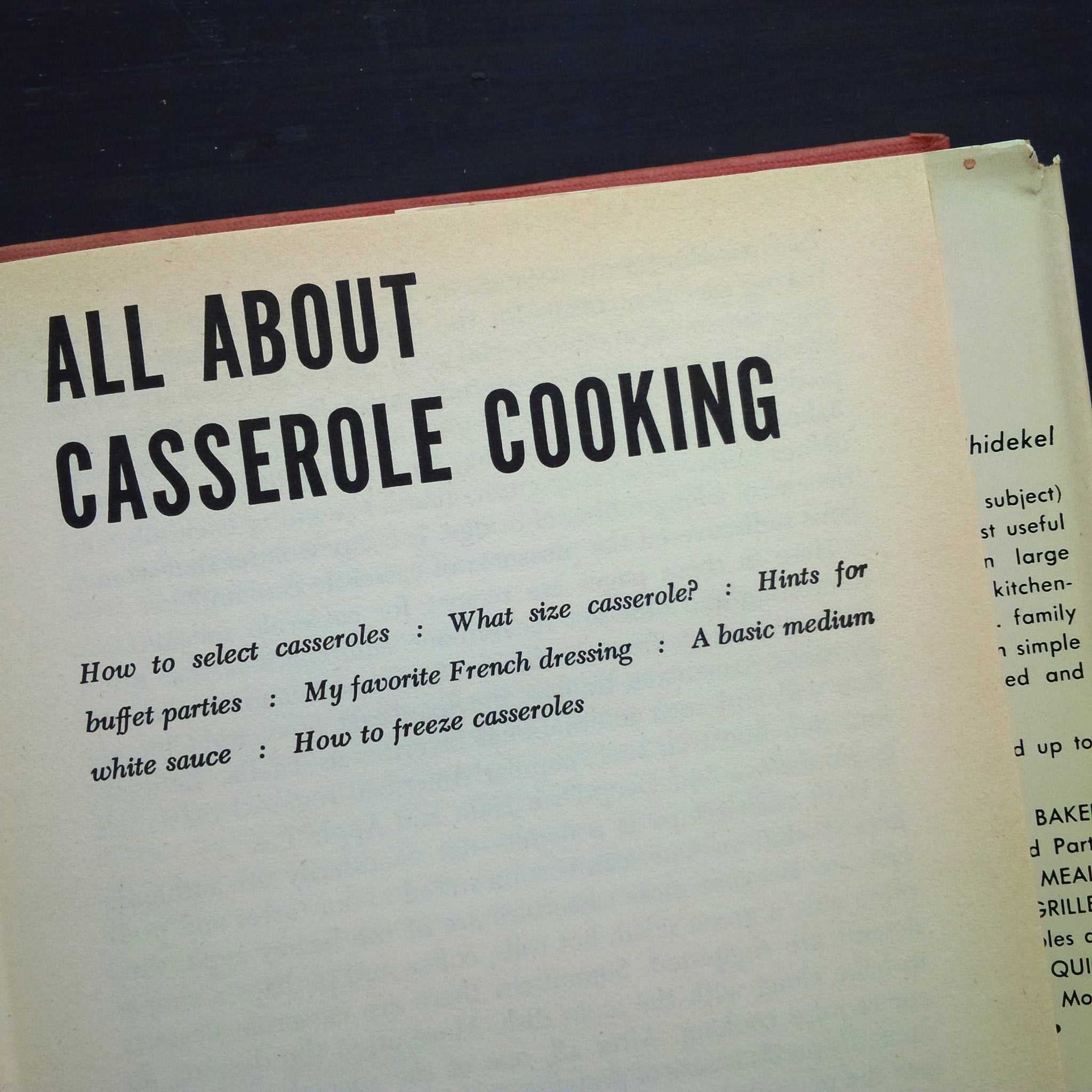 Casserole Specialties - Nedda Casson Anders - 1950s Casserole Cookbook