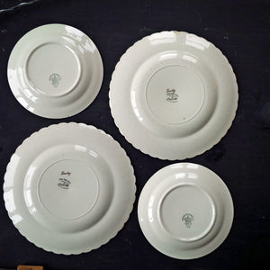 Mix and Match Vintage Dinner u0026 Salad Plates Collection - Clarice Cliff Dimity Dinner Plates - & Mix and Match Vintage Dinner u0026 Salad Plates Collection - Clarice ...