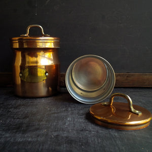 Vintage De La Cuisine Copper Plated Canisters - Set of 5 - Made by Old Dutch Cookware