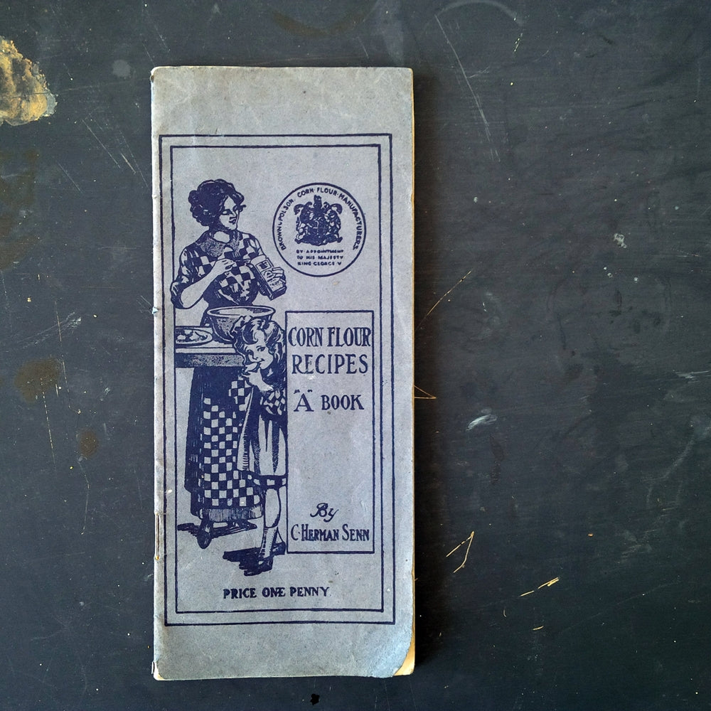 Corn Flour Recipes by C. Herman Senn - 1920s Rare Recipe Leaflet Containing Over 75 Recipes