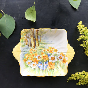 Rare Shelley England Daffodil Time Candy Dish circa 1945-1966