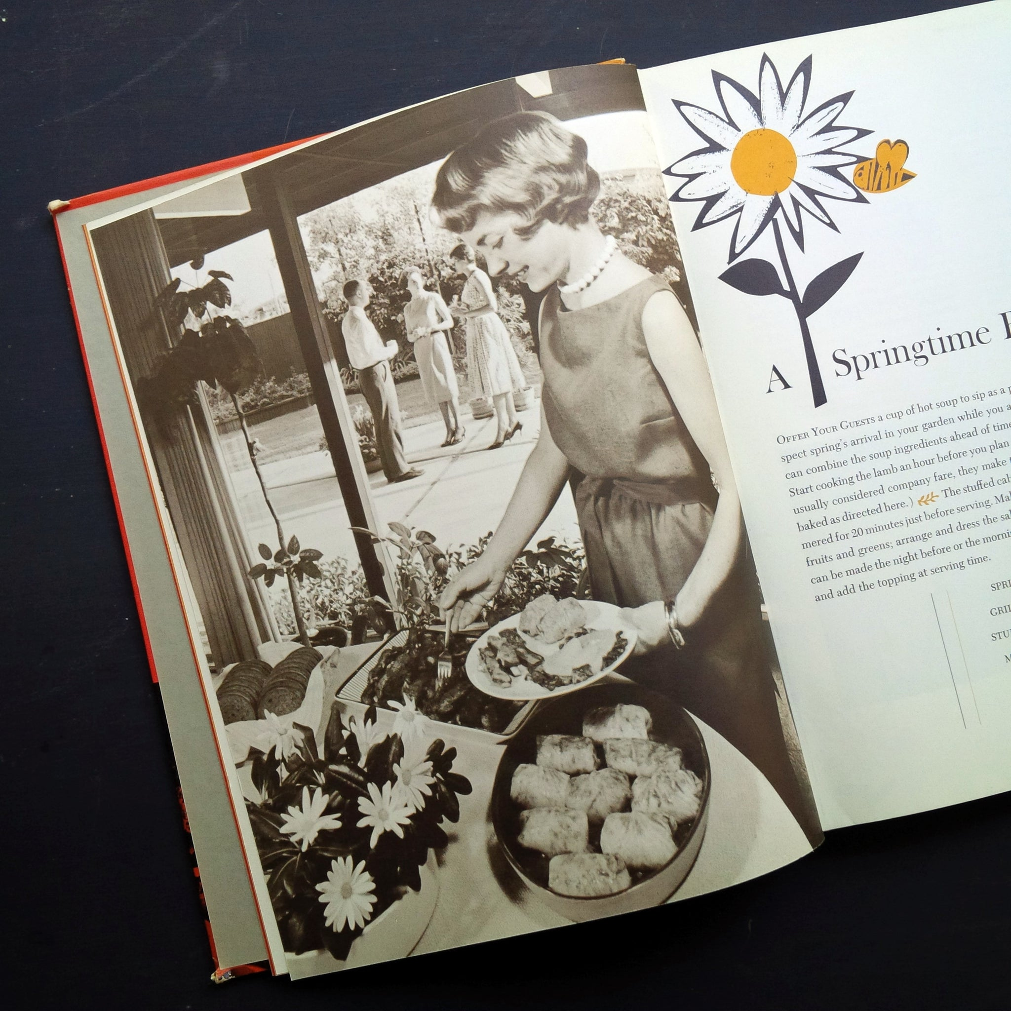 The Dinner Party Cook Book - Sunset Magazine - 1960's Holiday, Party and Theme Menu Cookbook