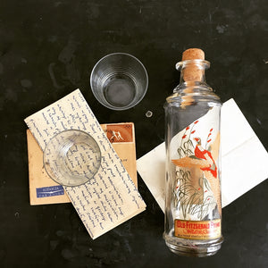 Vintage Old Fitzgerald Prime Wildlife Decanter Whiskey Bottle - 1960s Barware - Pheasant Bird
